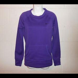Nike purple therma fit sweatshirt XS